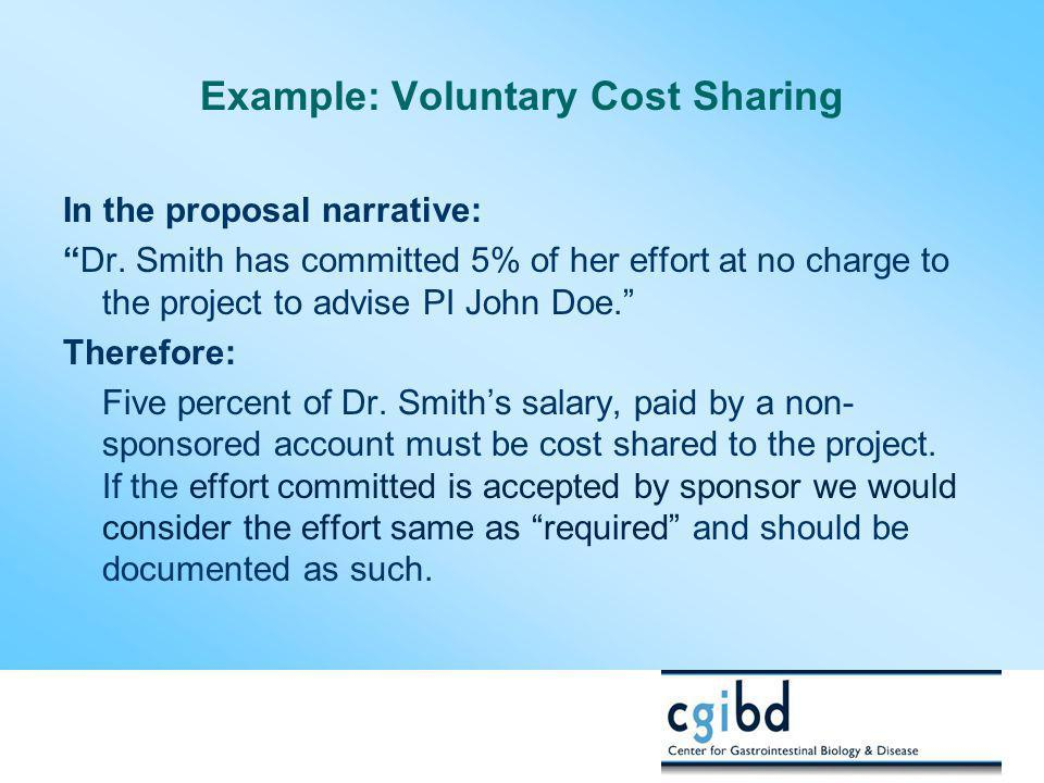 Example: Voluntary Cost Sharing
