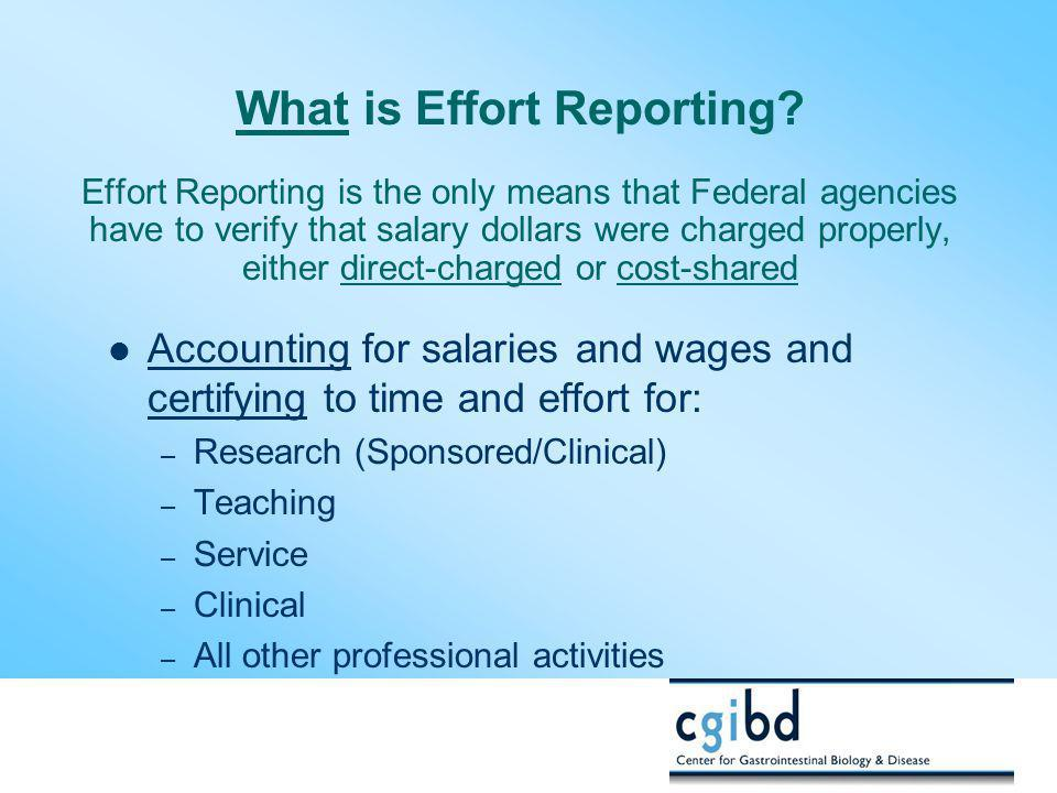 What is Effort Reporting