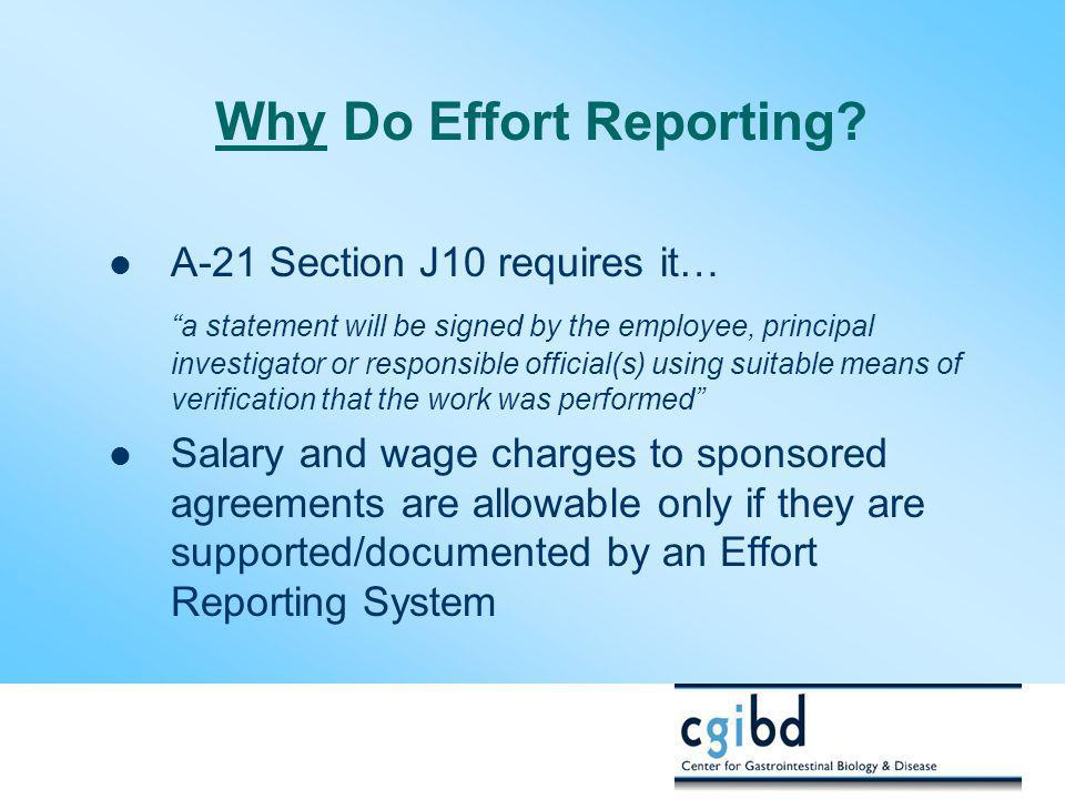 Why Do Effort Reporting