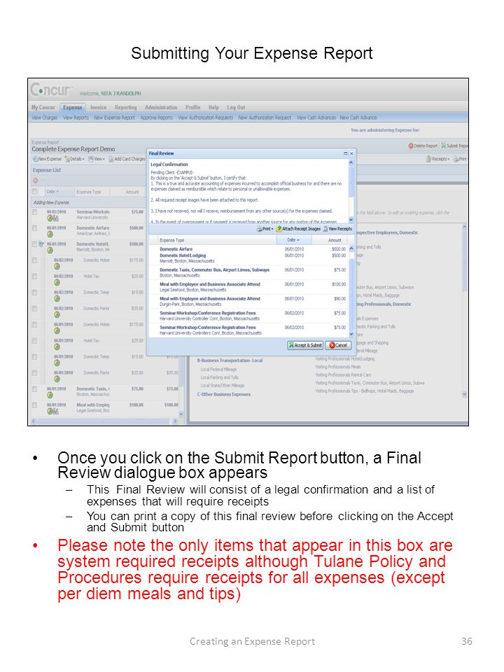 Submitting Your Expense Report