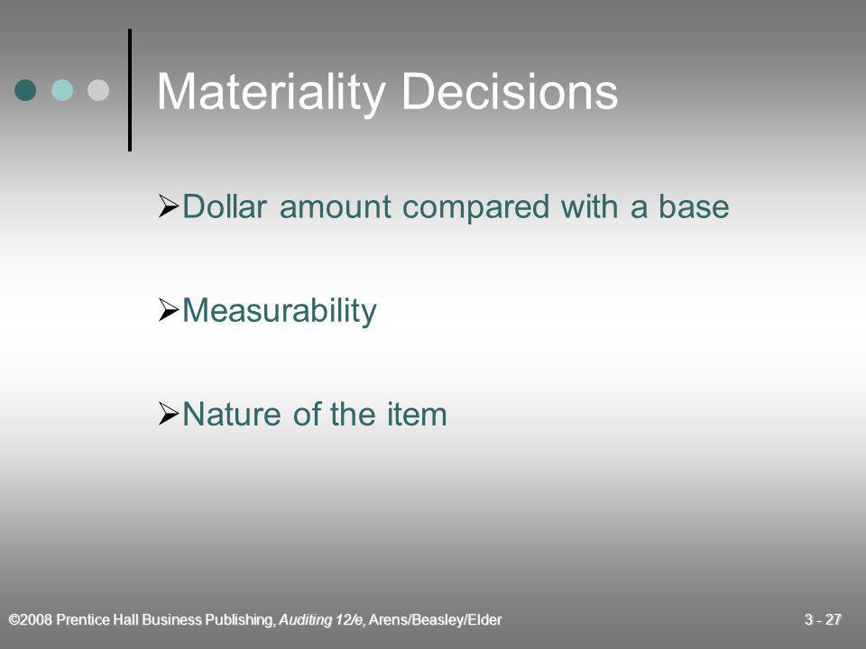 Materiality Decisions