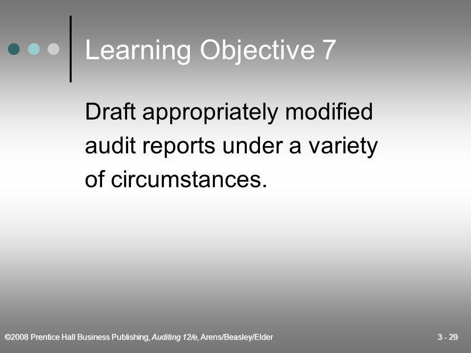 Learning Objective 7 Draft appropriately modified