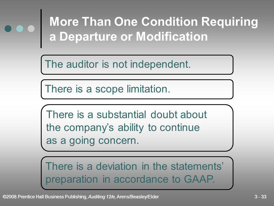 More Than One Condition Requiring a Departure or Modification