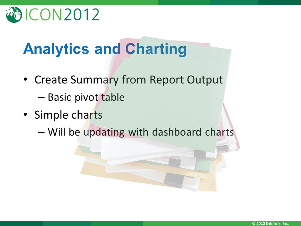 Analytics and Charting