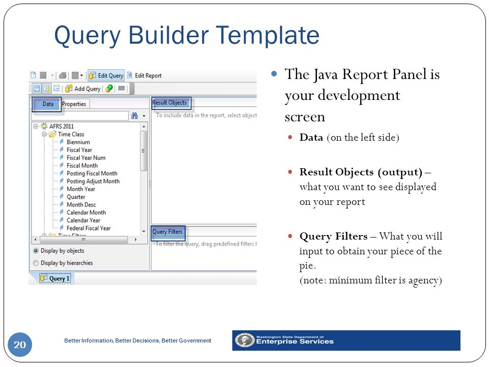 Query Builder Template