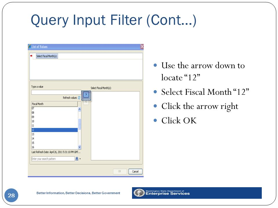 Query Input Filter (Cont…)