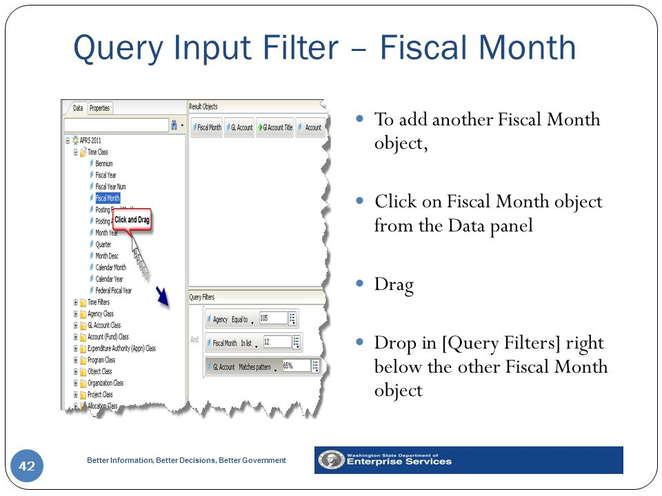 Query Input Filter – Fiscal Month