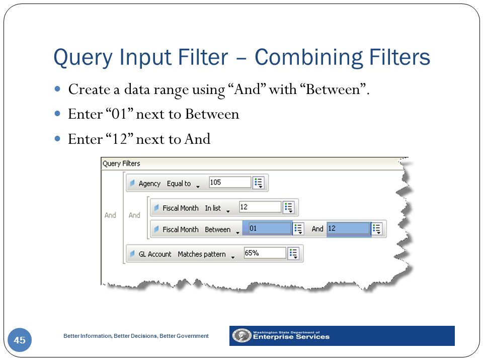 Query Input Filter – Combining Filters