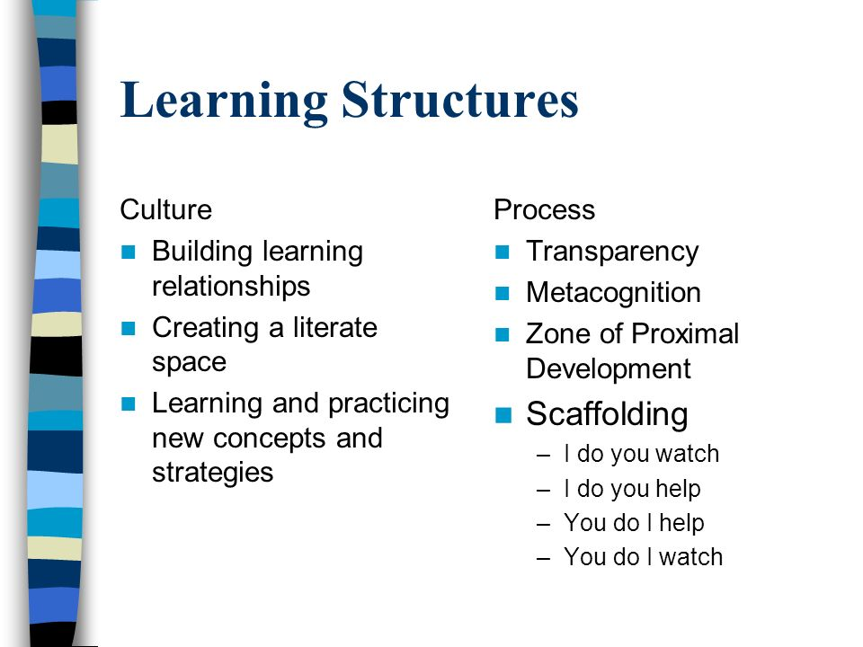 Learning Structures Scaffolding Culture
