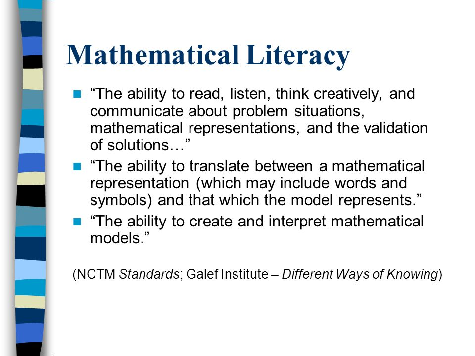 Mathematical Literacy