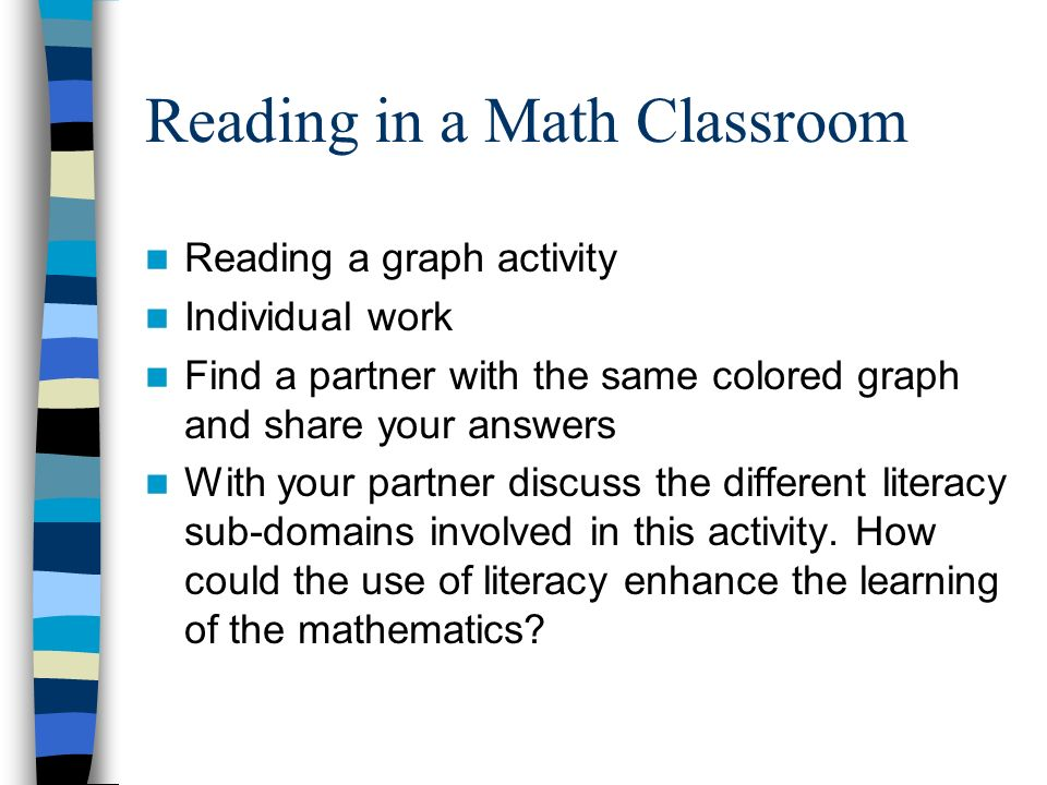 Reading in a Math Classroom