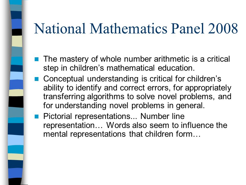 National Mathematics Panel 2008