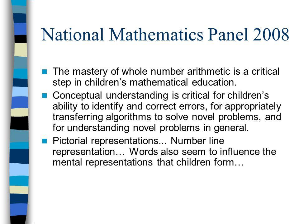 National Mathematics Panel 2008