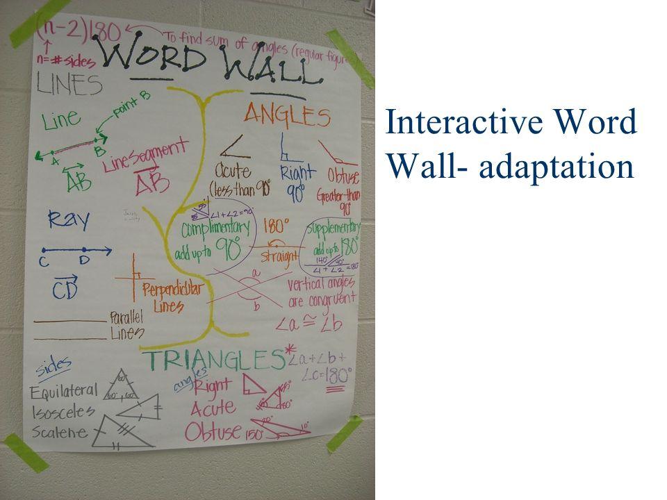 Interactive Word Wall- adaptation