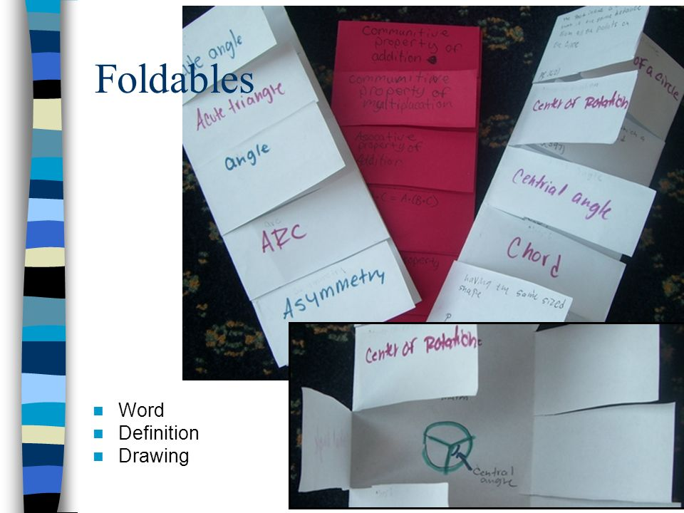 Foldables Word Definition Drawing