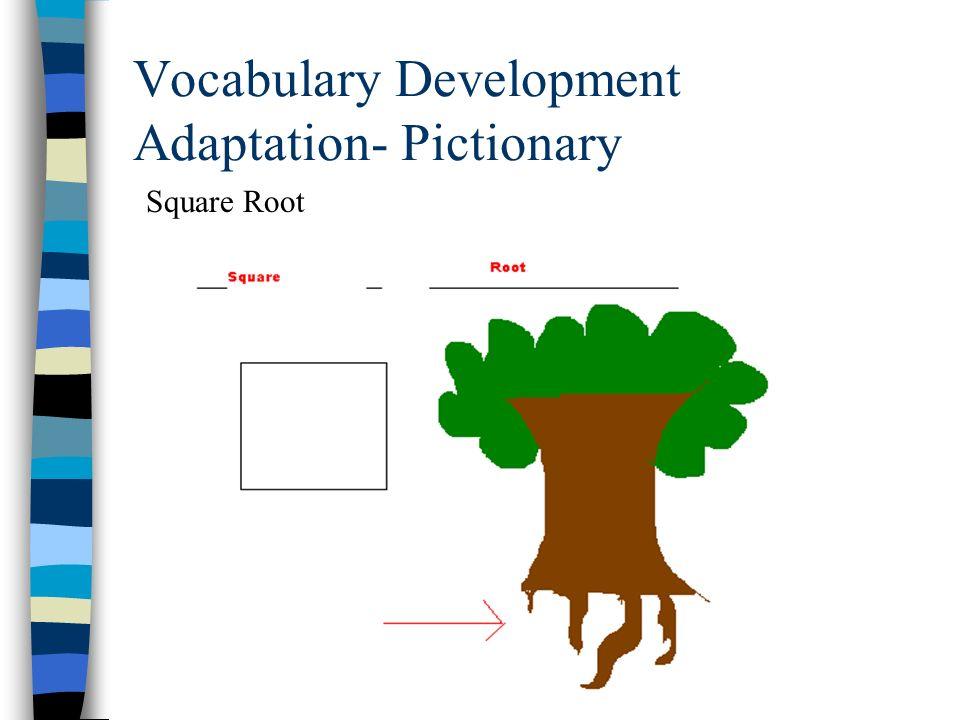 Vocabulary Development Adaptation- Pictionary