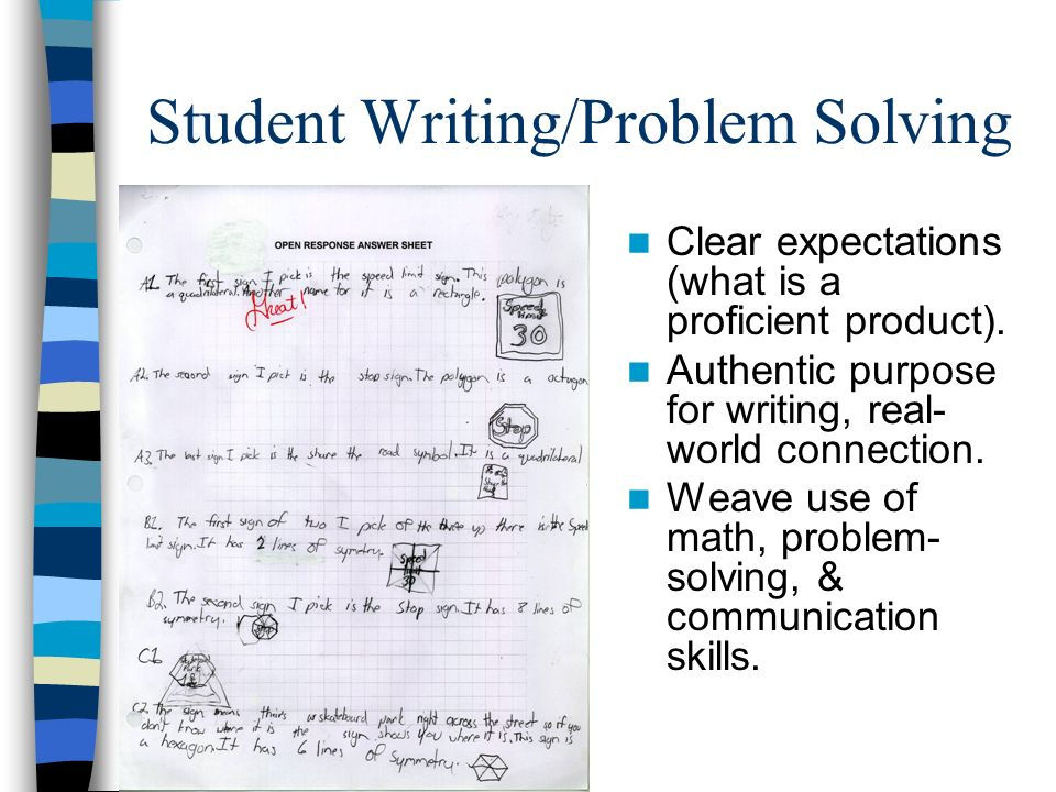 Student Writing/Problem Solving