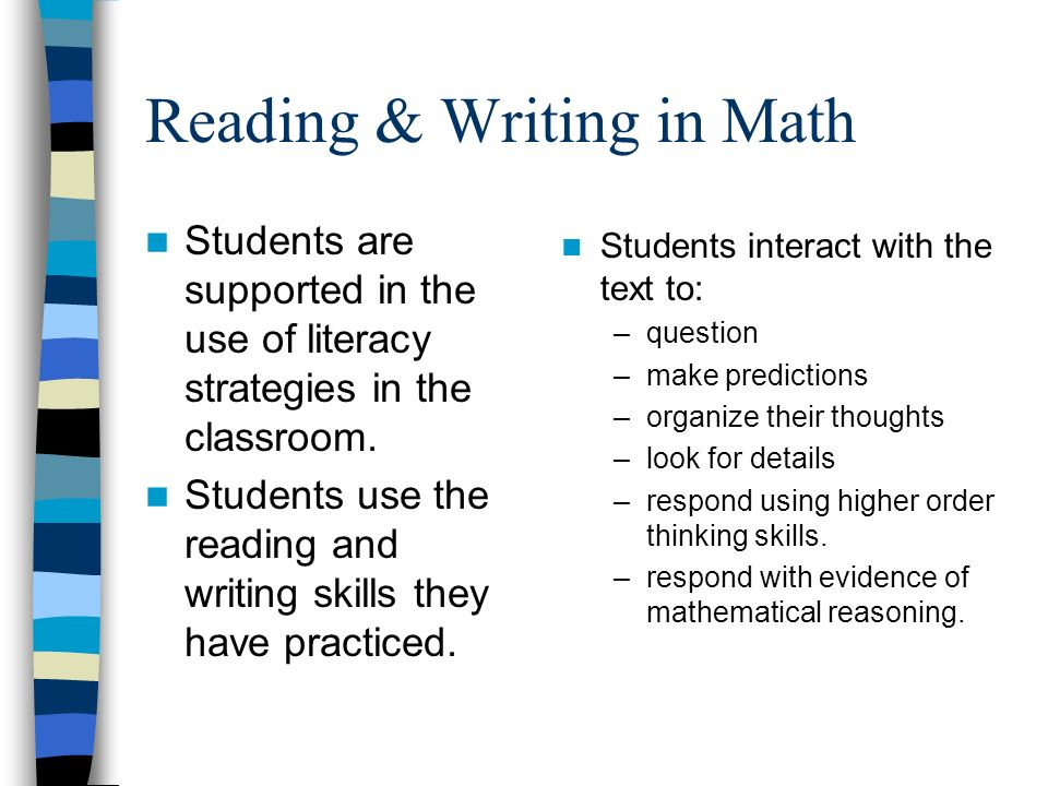 Reading & Writing in Math