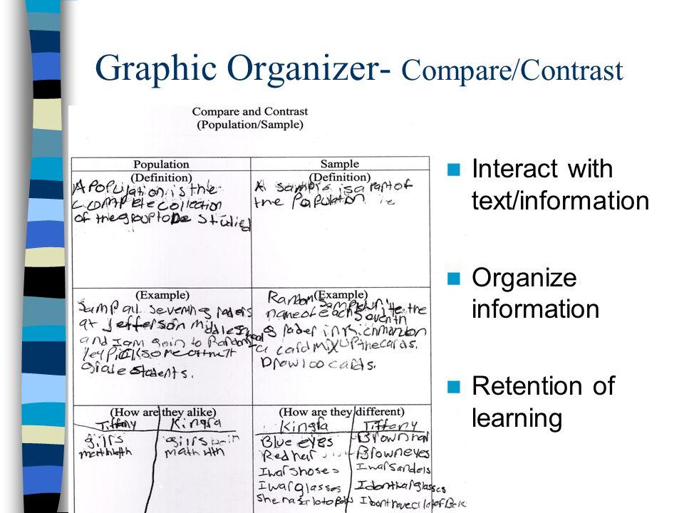 Graphic Organizer- Compare/Contrast