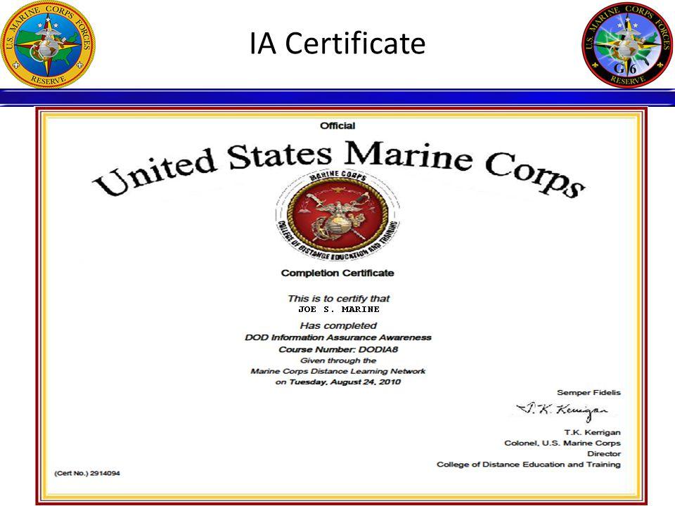 IA Certificate
