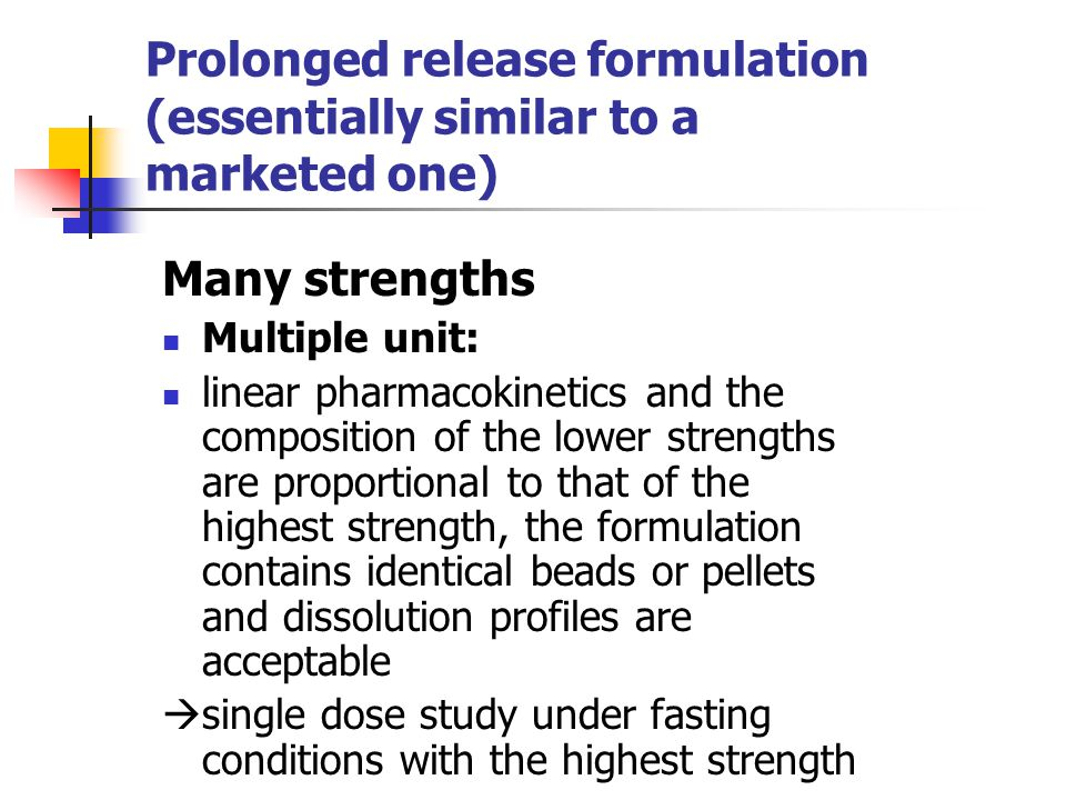 Prolonged release formulation (essentially similar to a marketed one)