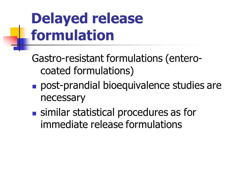 Delayed release formulation
