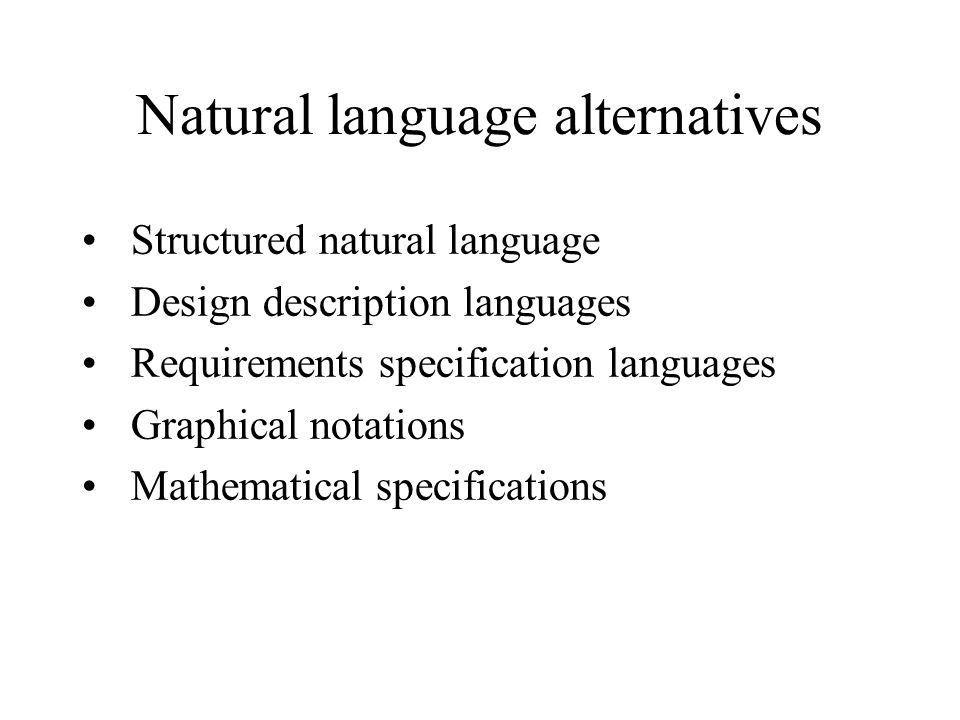 Natural language alternatives