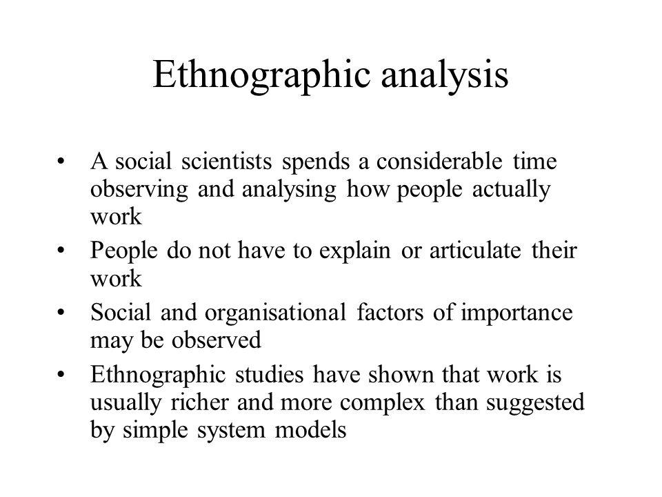 Ethnographic analysis