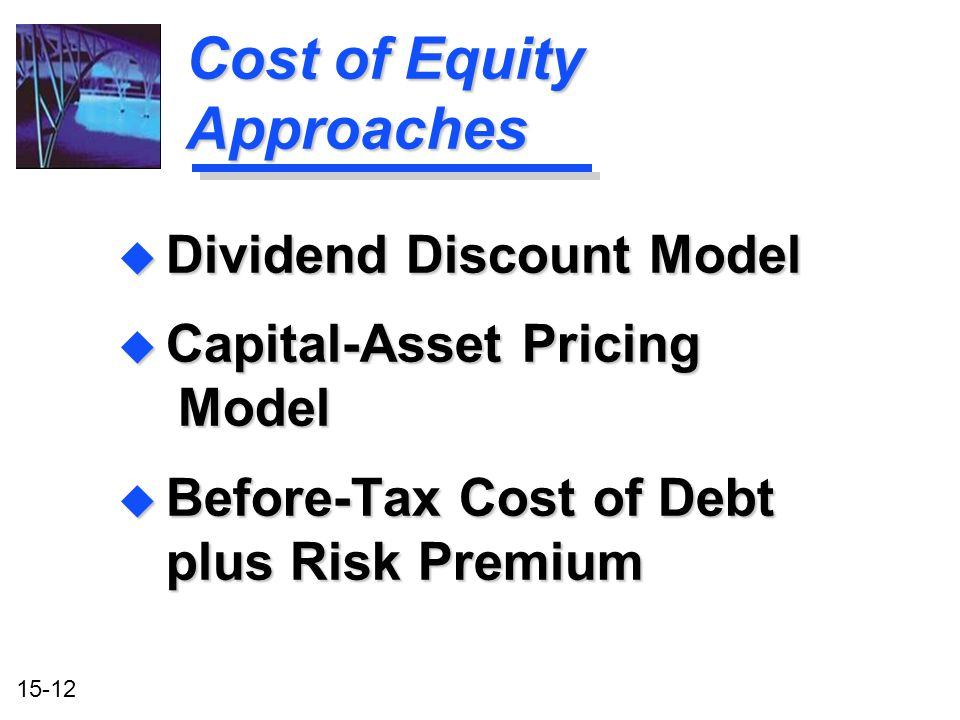 Cost of Equity Approaches