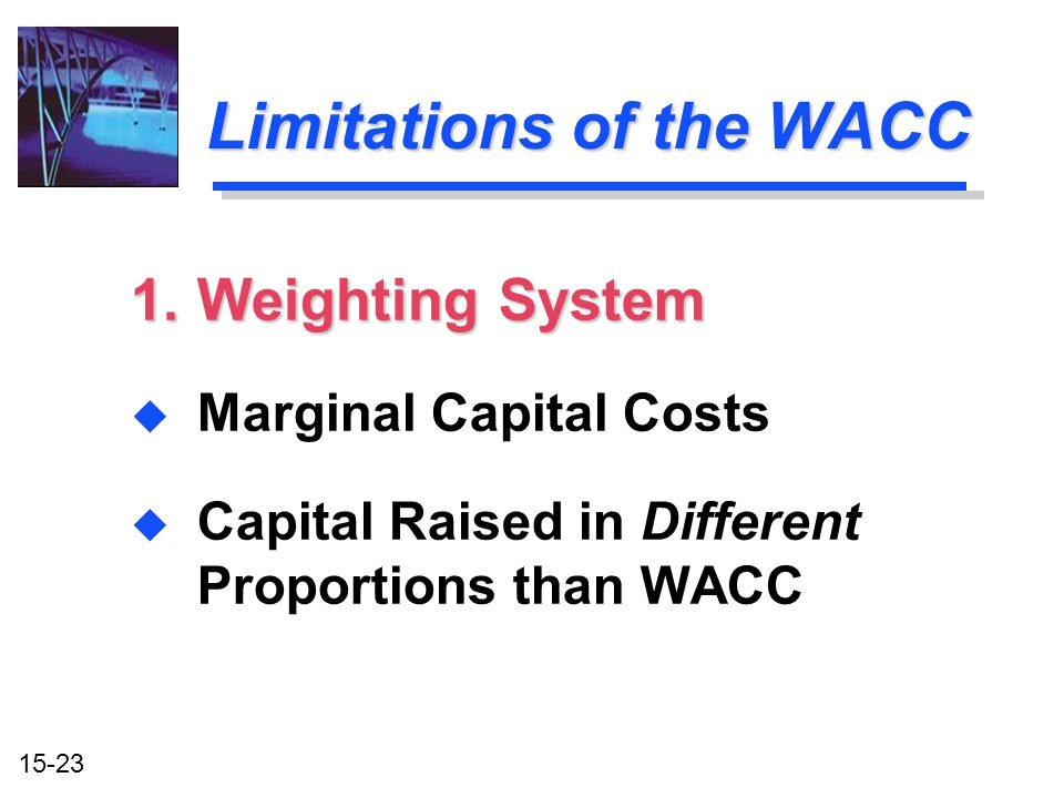 Limitations of the WACC