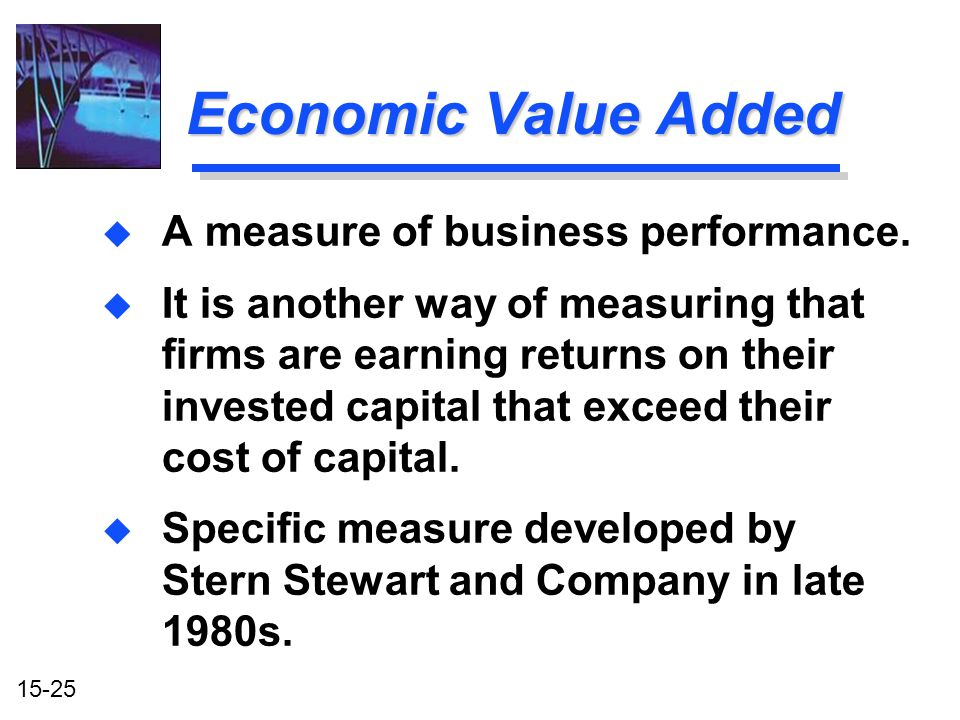 Economic Value Added A measure of business performance.