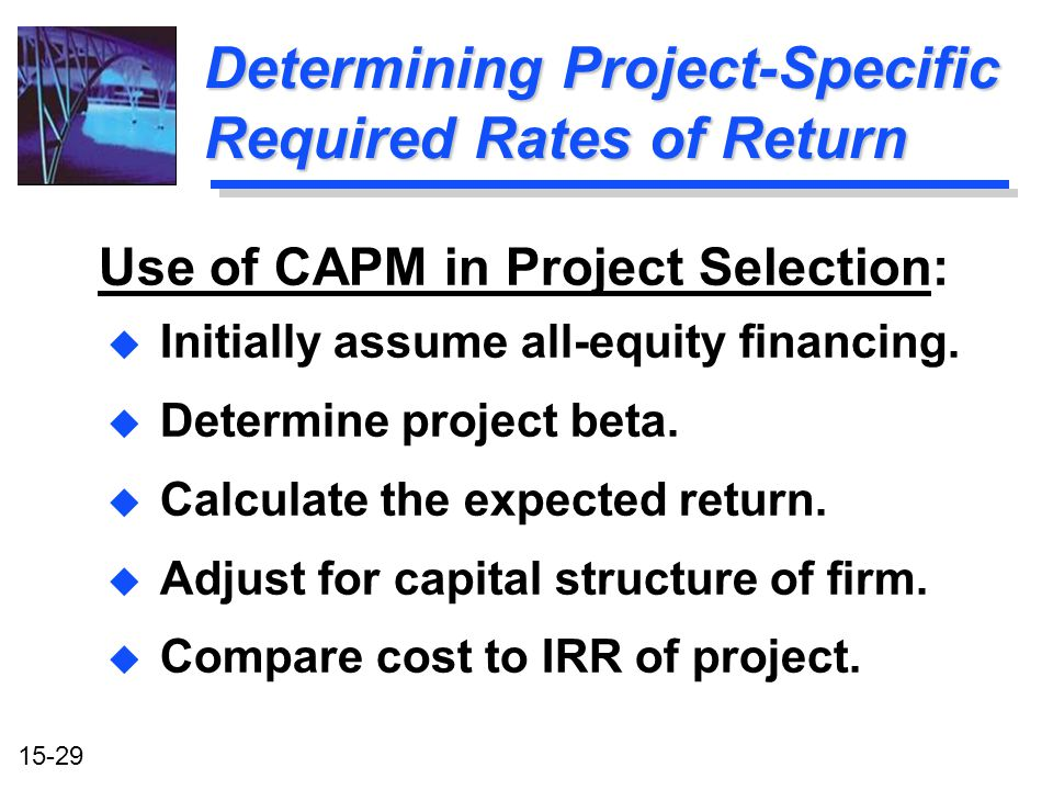 Determining Project-Specific Required Rates of Return