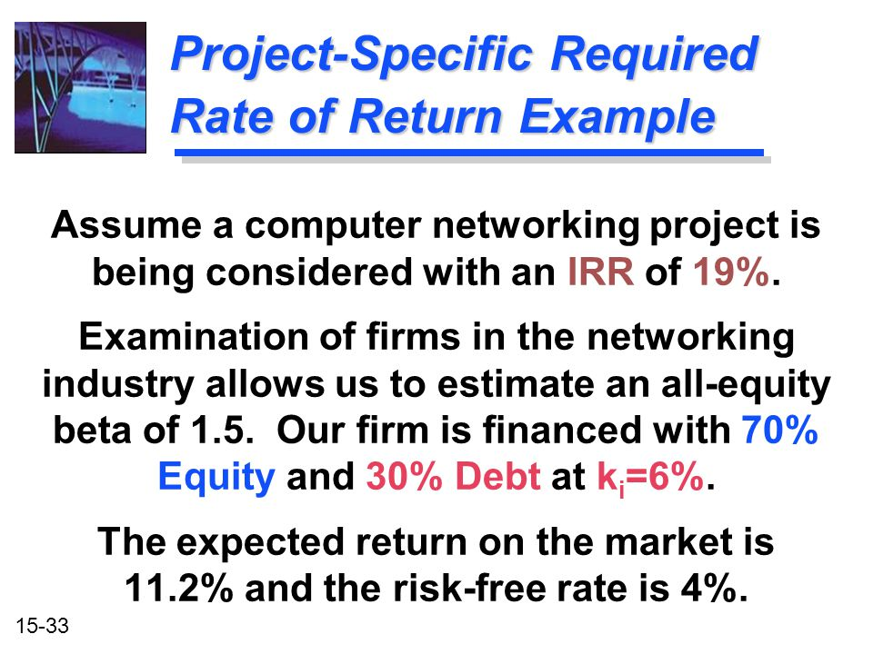 Project-Specific Required Rate of Return Example
