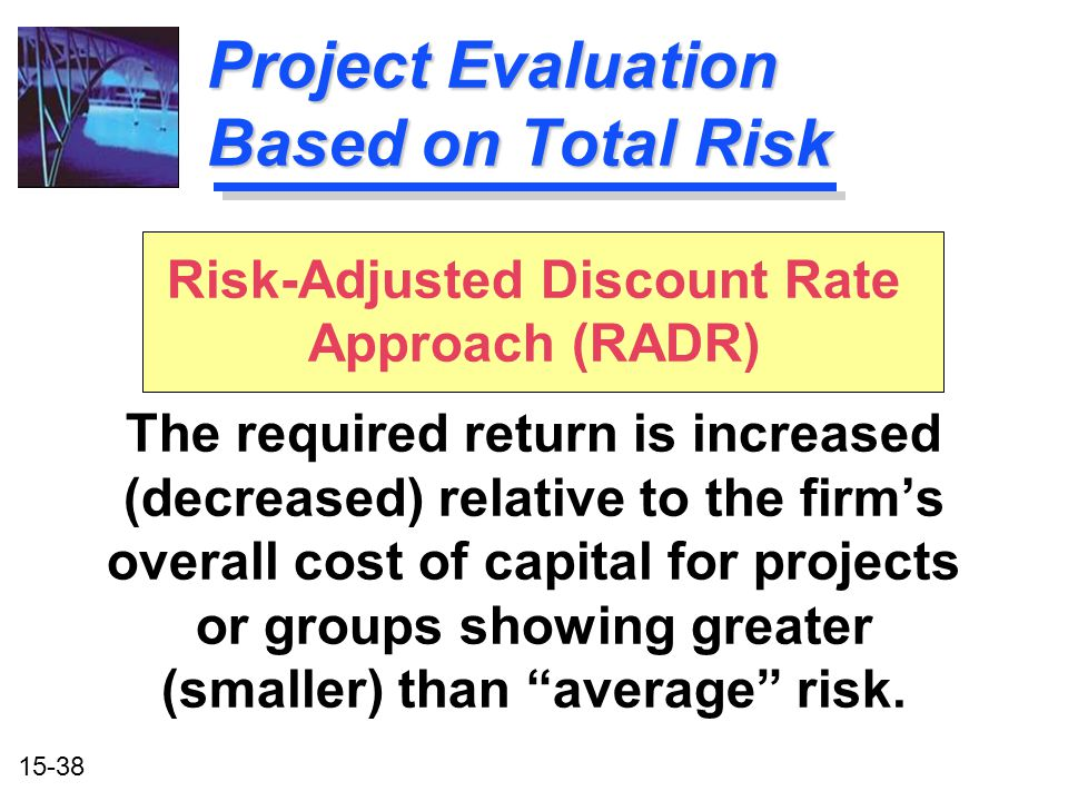 Project Evaluation Based on Total Risk