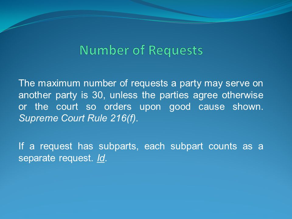 Number of Requests