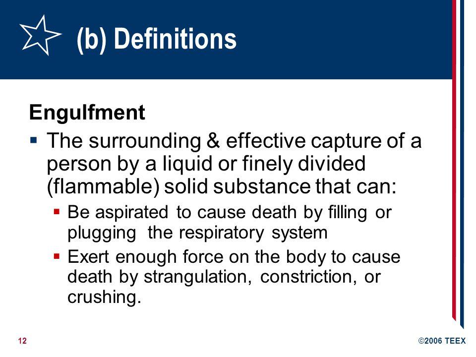 (b) Definitions Engulfment
