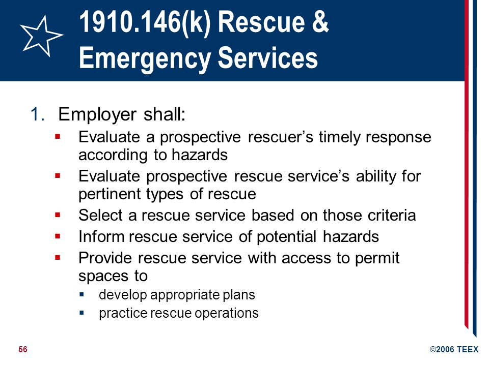 (k) Rescue & Emergency Services