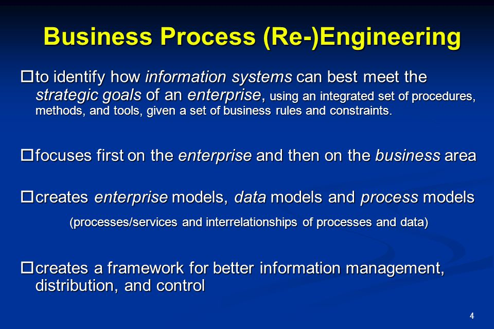 Business Process (Re-)Engineering