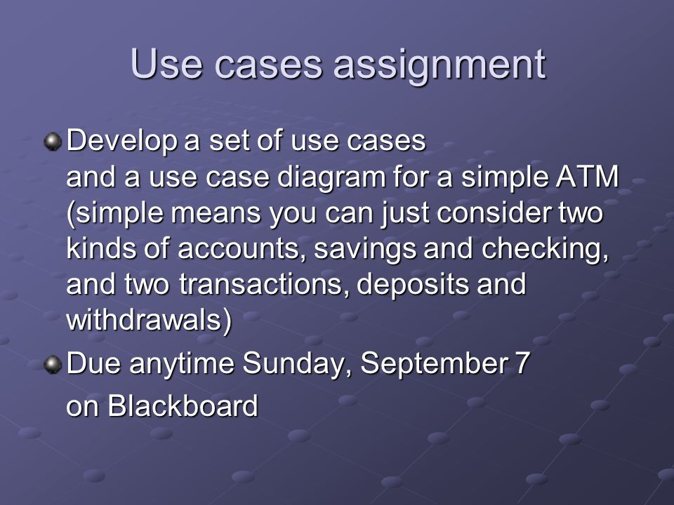 Use cases assignment