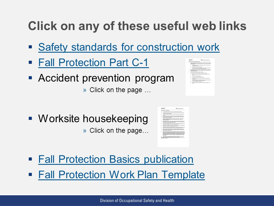 Click on any of these useful web links