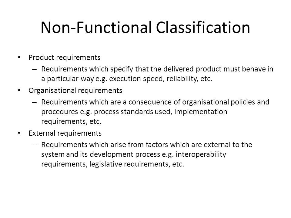 Non-Functional Classification
