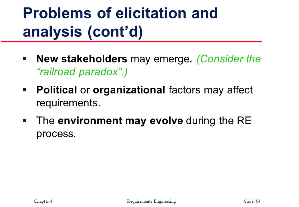 Problems of elicitation and analysis (cont'd)