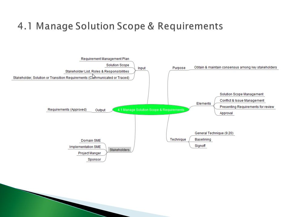 4.1 Manage Solution Scope & Requirements
