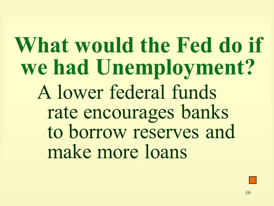What would the Fed do if we had Unemployment