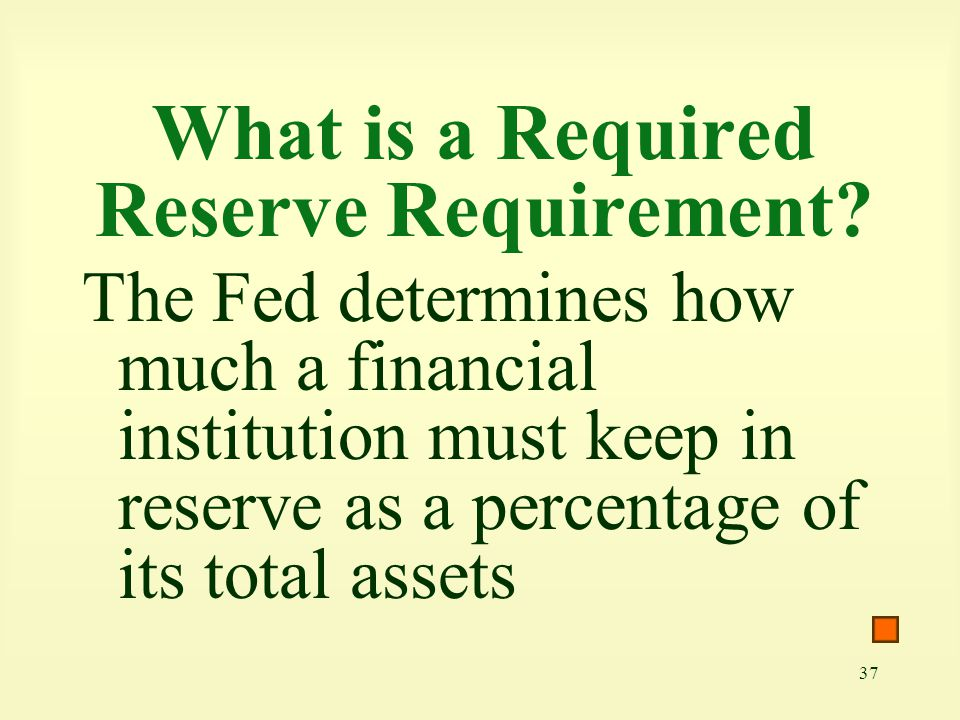 What is a Required Reserve Requirement
