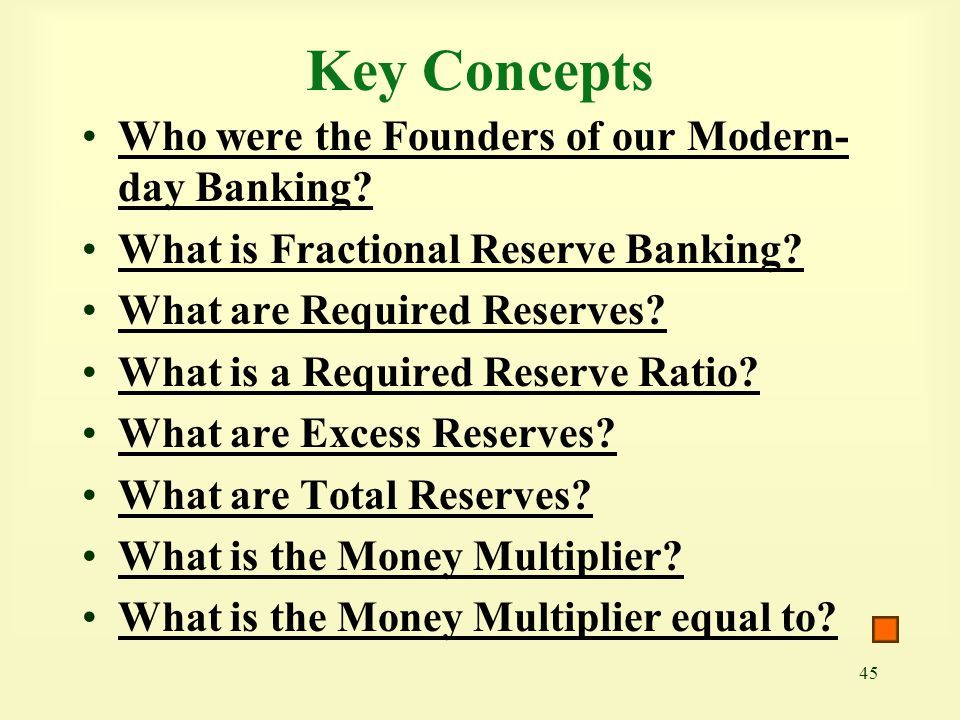 Key Concepts Who were the Founders of our Modern-day Banking