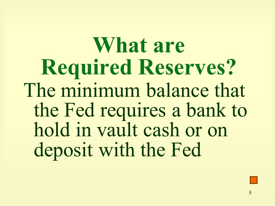 What are Required Reserves