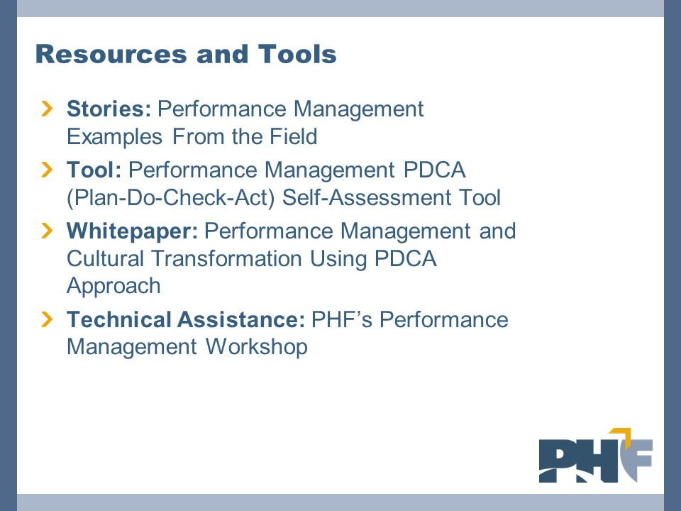 Resources and Tools Stories: Performance Management Examples From the Field.