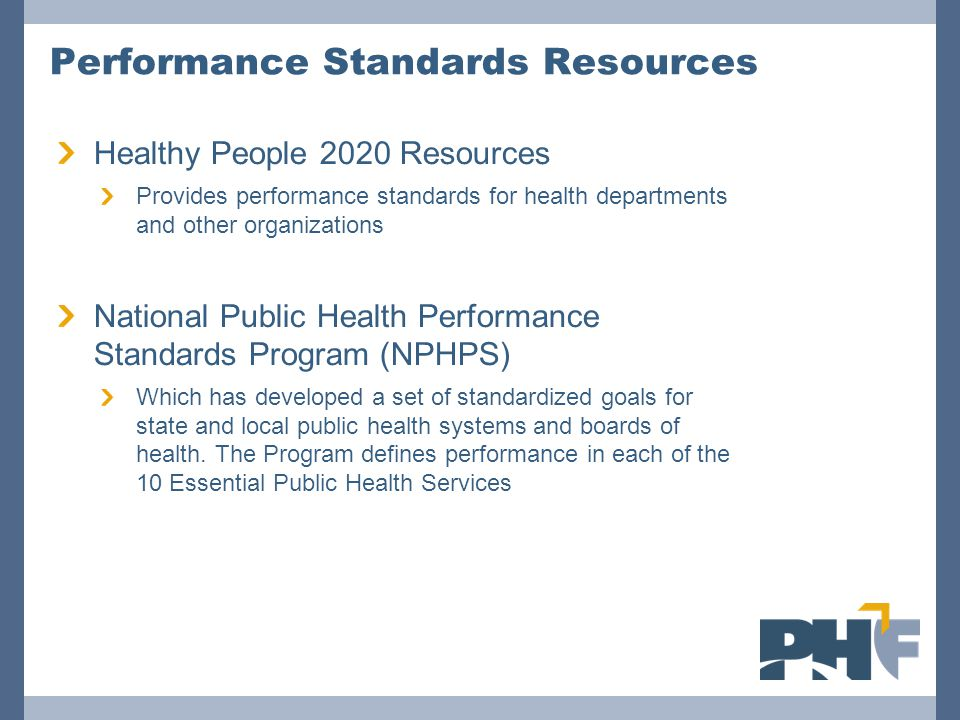 Performance Standards Resources