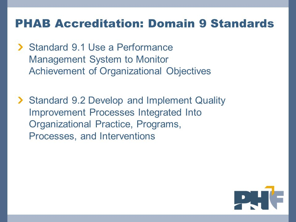 PHAB Accreditation: Domain 9 Standards